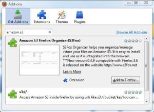 Amazon S3 Add-on For Firefox