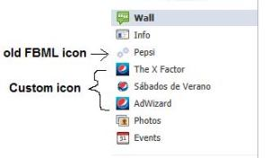Example of a custom Facebook page with custom icon - Pepsi's Facebook page