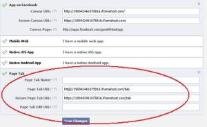 Creating a new App in Facebook - Page Tab