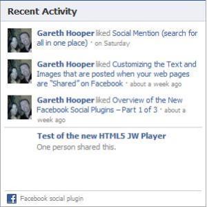 Facebook Activity Feed Social Plugin