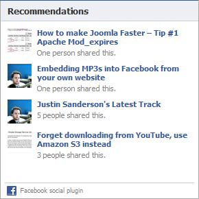 Recommendations for a visitor whose Facebook friends HAVE interacted with some webpages on this website