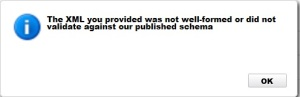 Amazon S3 - The XML you provided was not well-formed or did not validate against our published schema